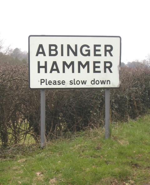 Abinger Hammer sign